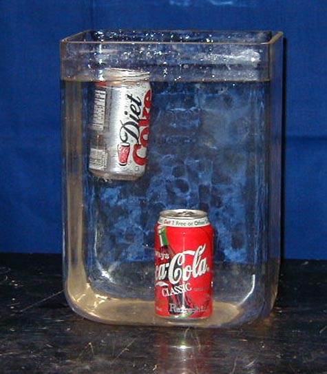 what is the mass of diet coke